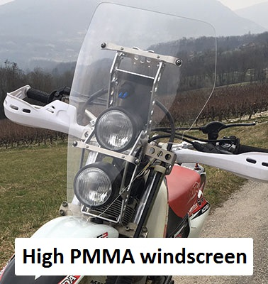 high PMMA windscreen
