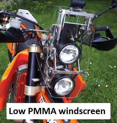 low PMMA windscreen