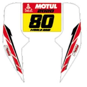 stickers kit for rally fairing
